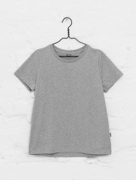 R-Collection Women's T-shirt light melange grey