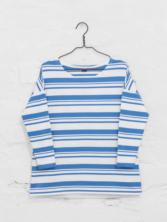 R-Collection Boxy Striped T-Shirt