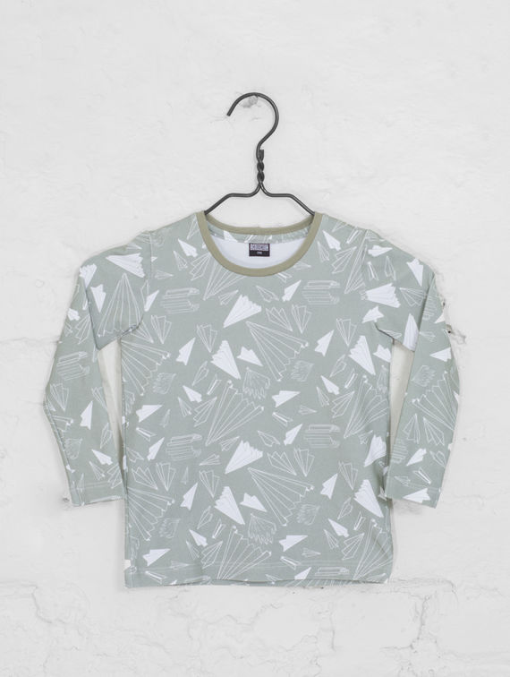 R-Collection Children's Long-Sleeved T-Shirt paper planes