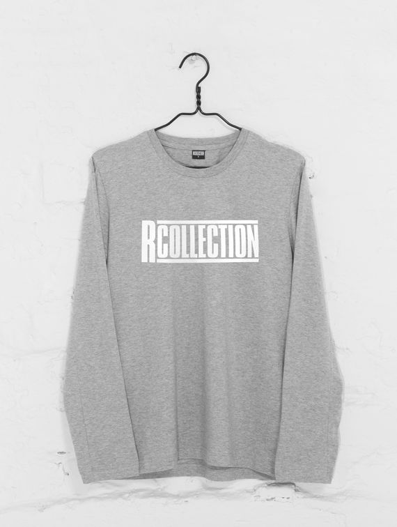 R-Collection Long-Sleeved T-Shirt white logo