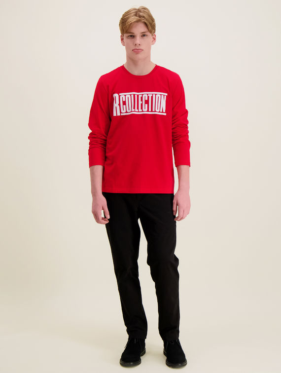 R-Collection Long-Sleeved Logo T-Shirt