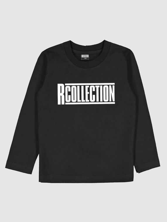 R-Collection Children's Long-Sleeved T-Shirt white logo
