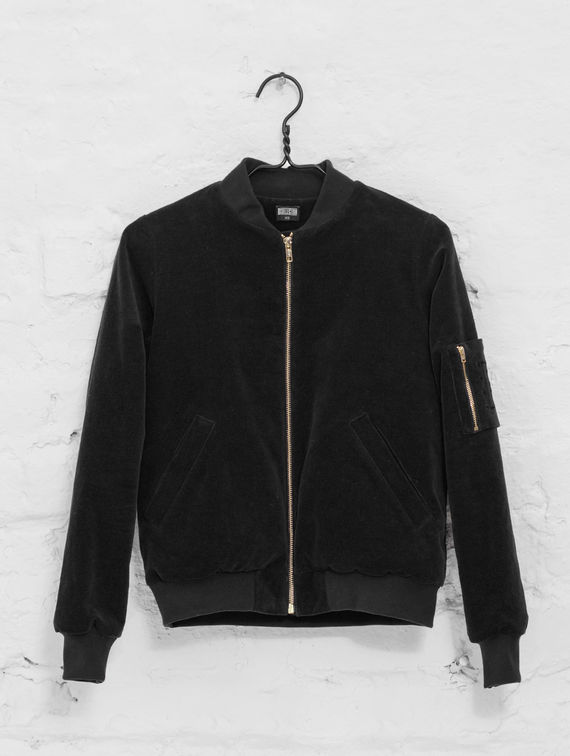 R-Collection Velvet Bomber black