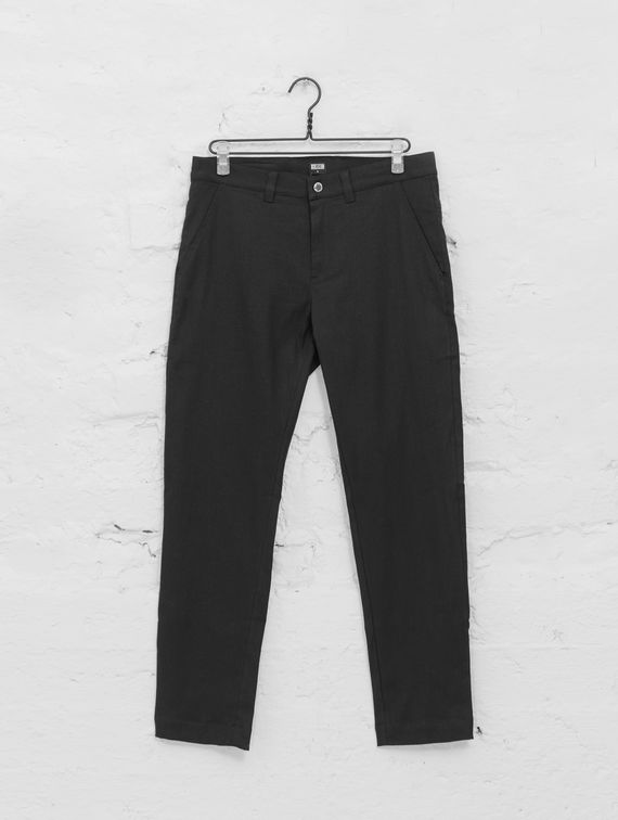 R-Collection Linen Chinos black