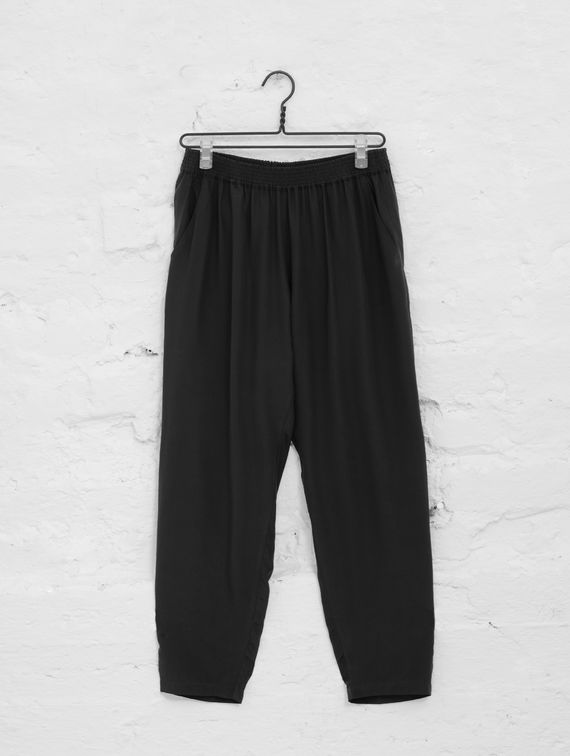 R-Collection Silk Pants black