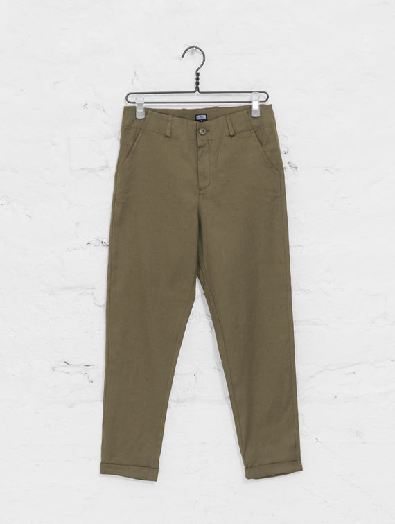 R-Collection Linen Pants lichen green
