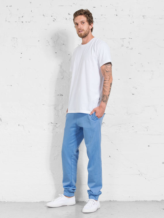 R-Collection Slim Sweatpants provence blue