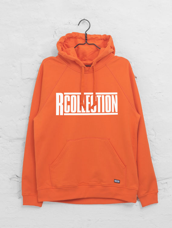 R-Collection Hoodie tigerlily with logo