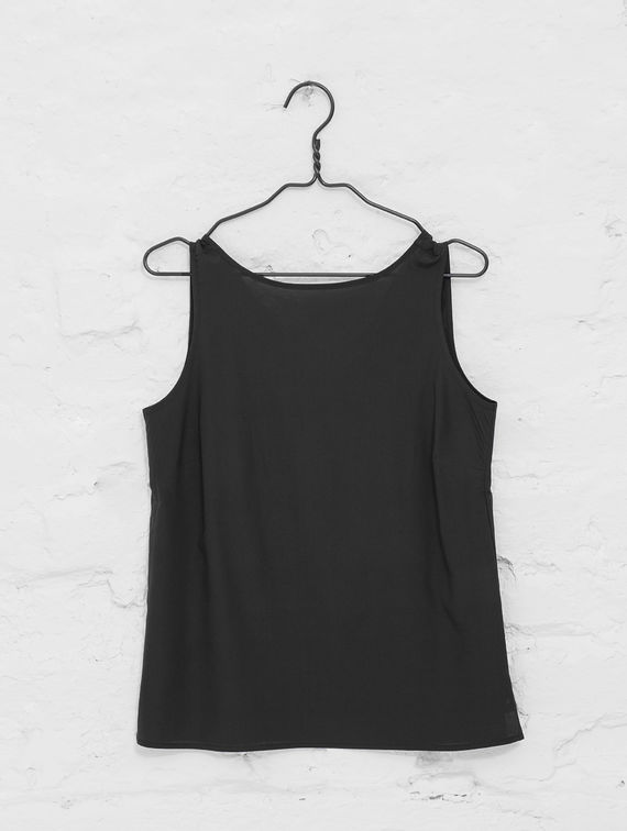 R-Collection Silk Top black