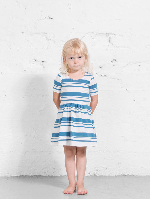 R-Collection      Mini Striped Dress provence blue stripe